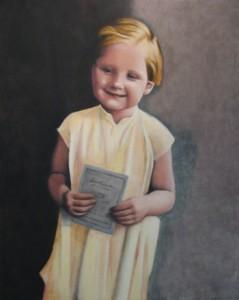 Angela Merkel bambina